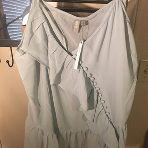 NWT ASOS curve cami with frill/button detail